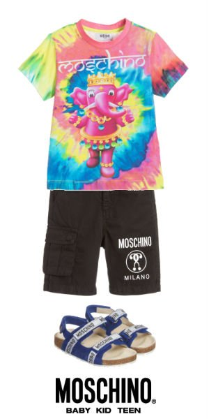 Moschino Boys Mini Me 70s Vibe Elephant Shirt