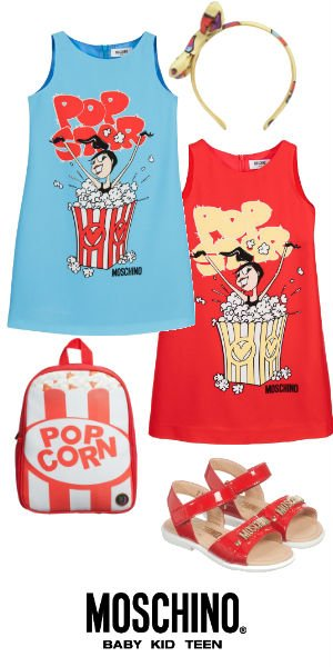 Moschino Girls Min Me Pop Star Popcorn Dress