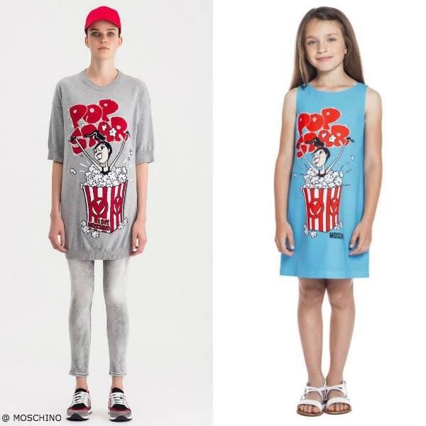 Moschino Girls Mini Me Pop Star Popcorn Dress