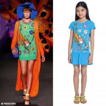 Moschino Girls Mini Me 70s Vibe Monkey Dress