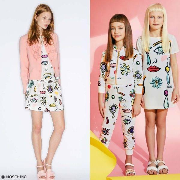Moschino Girls Mini Me Pop Beauty Dress