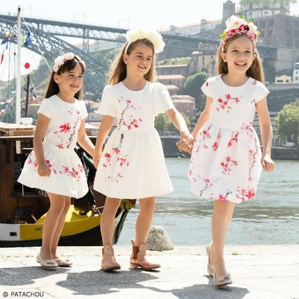 PATACHOU Girls Ivory Floral Bubble Dress