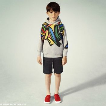 STELLA MCCARTNEY KIDS Boys Grey Heath Brush Stroke Sweatshirt