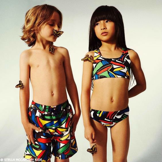 STELLA MCCARTNEY KIDS Brushstroke Print Swimsuit
