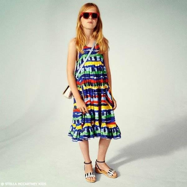STELLA MCCARTNEY KIDS Girls Colorful Viscose Dress