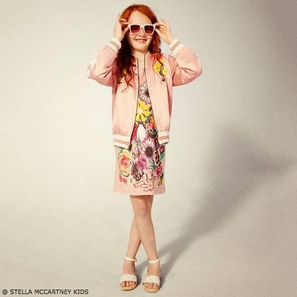 STELLA MCCARTNEY KIDS Girls Pink Floral Dress