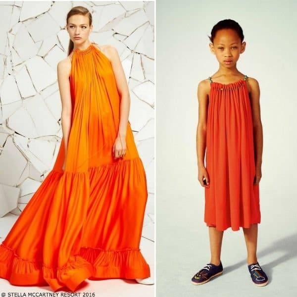 Stella McCartney Kids Girls Mini Me Coral Hope Dress