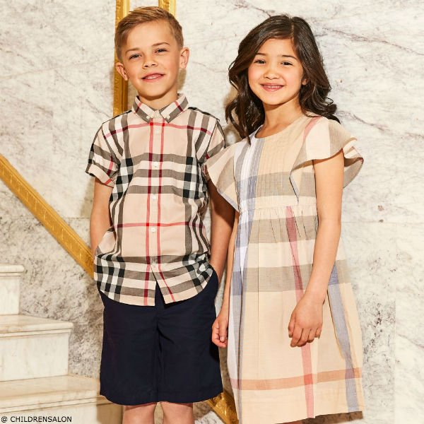 BURBERRY Boys Beige New Classic Check Shirt & Girls Dress