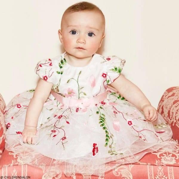 Girls Ivory Tulle Dress