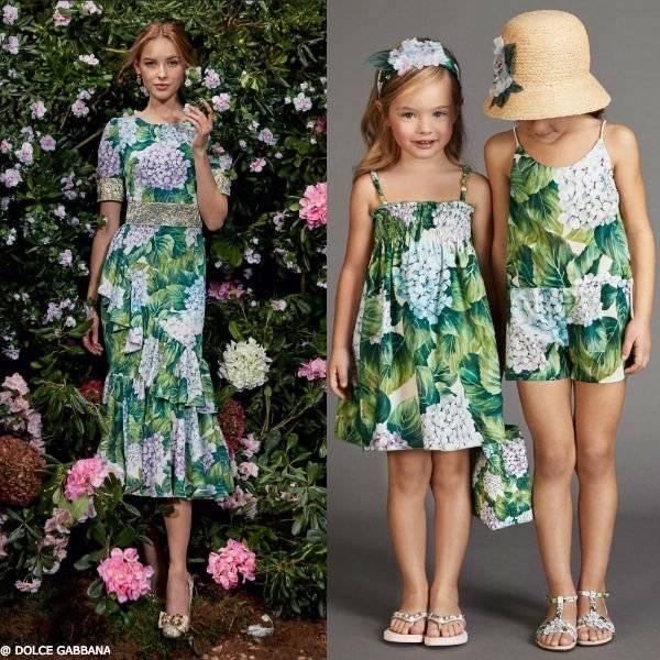 DOLCE GABBANA GIRLS MINI ME Ortensia Sun Dress