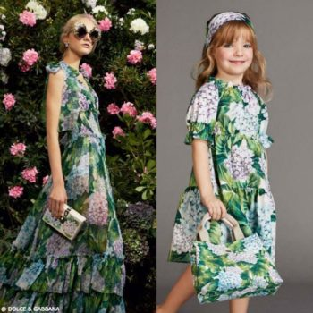 DOLCE & GABBANA Girls Mini Me Cotton 'Ortensia' Dress