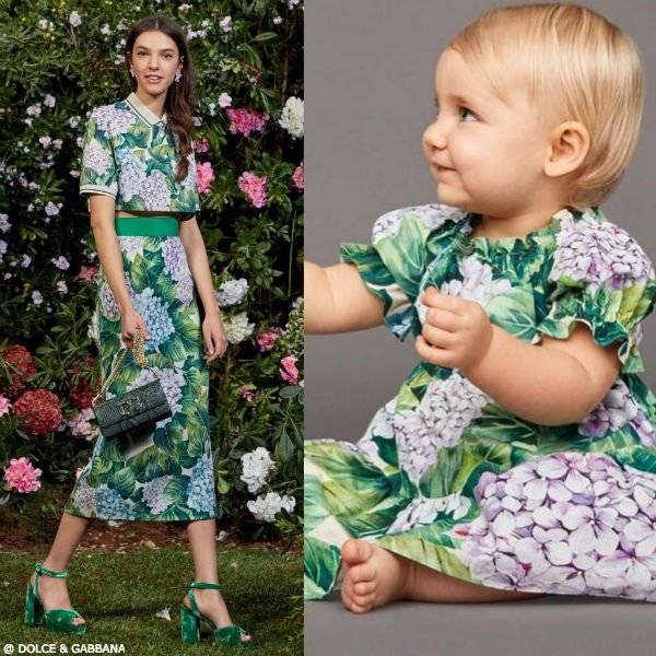 DOLCE & GABBANA Mini Me Baby Girls Ortensia Dress