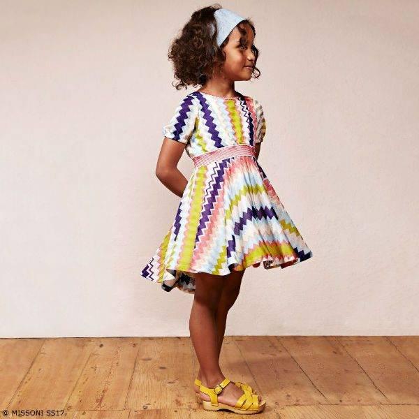 MISSONI Girls Classic ZigZag Dress