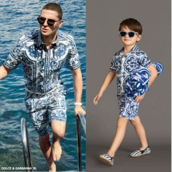 DOLCE & GABBANA Boys Mini Me Majolica Shirt & Shorts