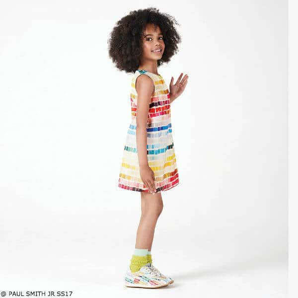 Paul Smith Junior Girls Colorful Nelly Print Dress SS17
