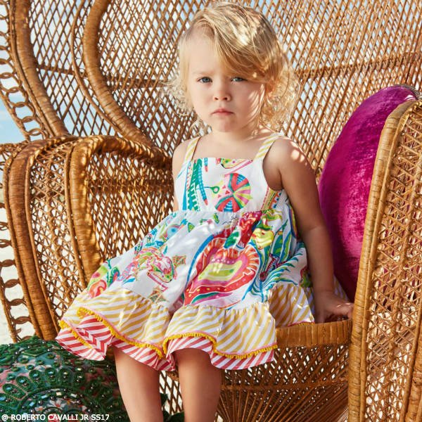 ROBERTO CAVALLI Junior Baby Girls Coachella Print Dress