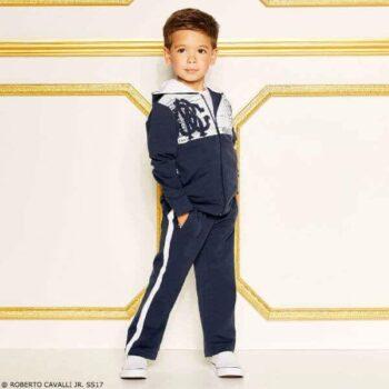 ROBERTO CAVALLI Jr. Boys Navy Blue Training Suit