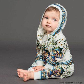 Dolce Gabbana Girls Vaso Fiori Babysuit Winter 2018