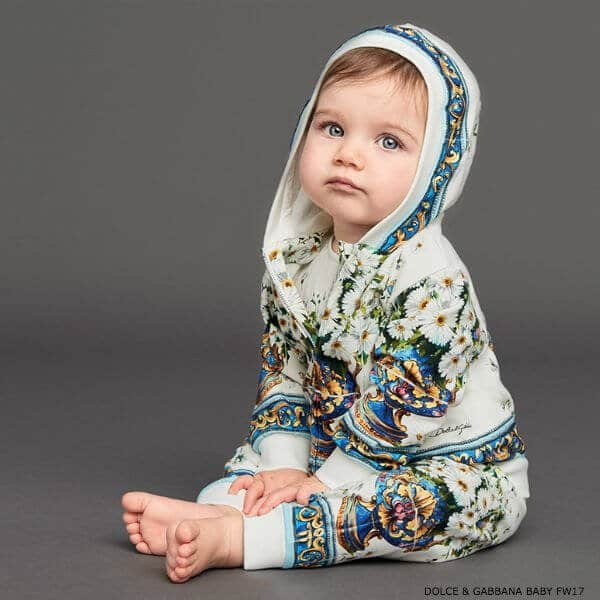 Dolce Gabbana Girls Vaso Fiori Mini Me Babysuit