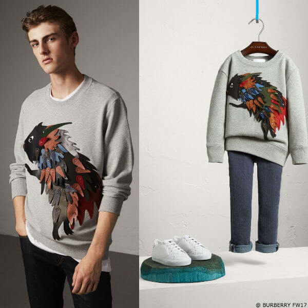 Burberry Beasts Boys Mini Me Bull Applique Sweatshirt