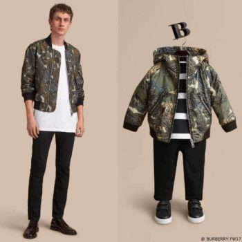 Burberry Beasts Boys Mini Me Print Hooded Bomber Jacket