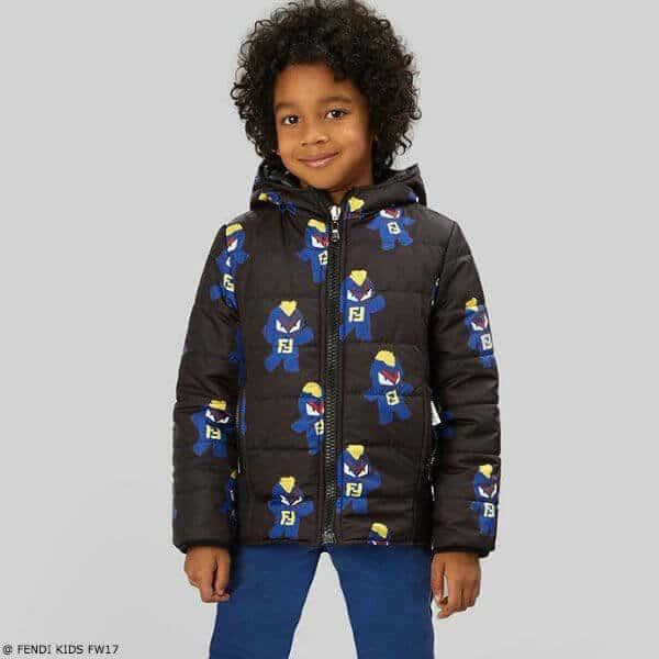 FENDI Boys Black Fendirumi Bug-Kun Jacket