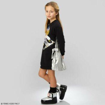 FENDI Girls Piro-Chan Black DJ Dress
