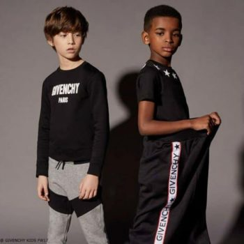 GIVENCHY KIDS BLACK LOGO SWEATSHIRT and PANTS