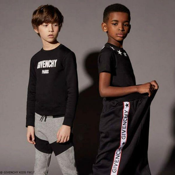 GIVENCHY KIDS BLACK LOGO SWEATSHIRT and PANTS