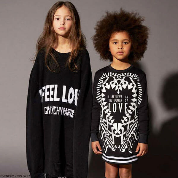 GIVENCHY KIDS Girls Black Love Sweatshirt Dress