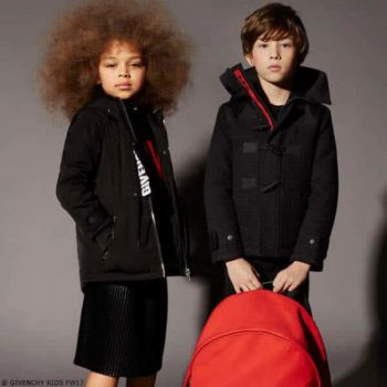 GIVENCHY KIDS Grey Wool Duffle Coat
