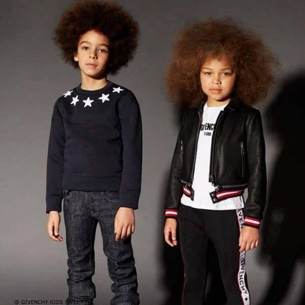 GIVENCHY KIDS MINI ME Navy Blue Star Sweatshirt