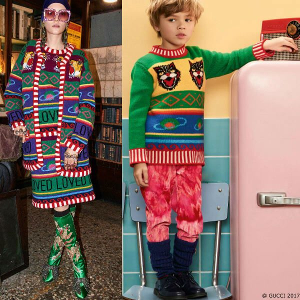 GUCCI Boys Mini Mi Colorful Wool & Cashmere Sweater