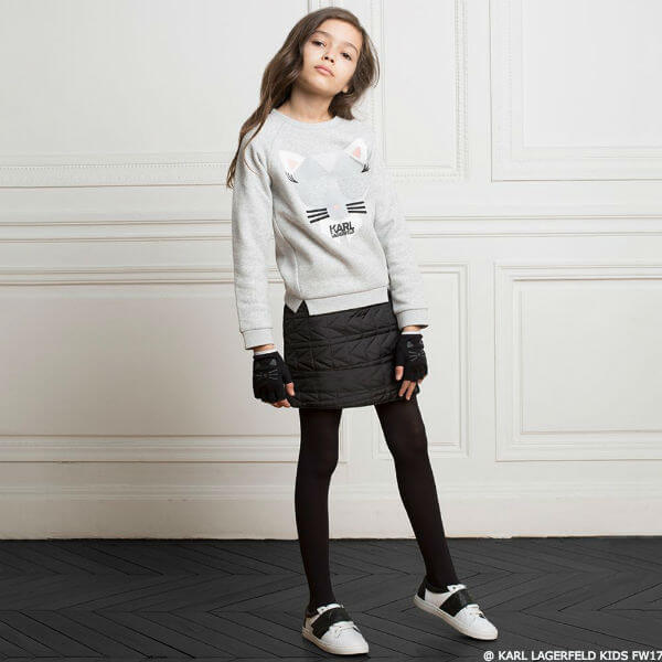 KARL LAGERFELD KIDS Girls Mini Me Choupette Sweatshirt