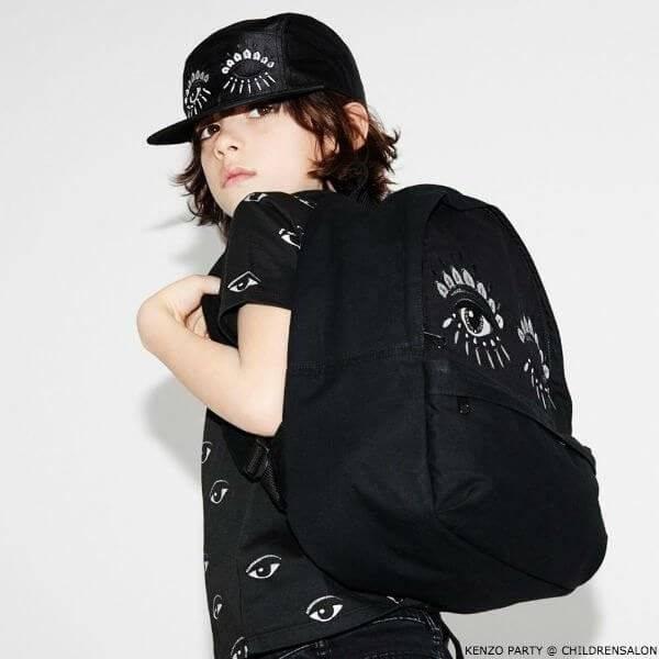 KENZO KIDS EXCLUSIVE EDITION Black Eye Tshirt Hat Backpack