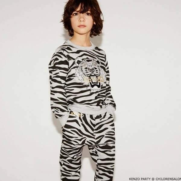 KENZO KIDS EXCLUSIVE EDITION Boys Grey Tiger Sweatshirt