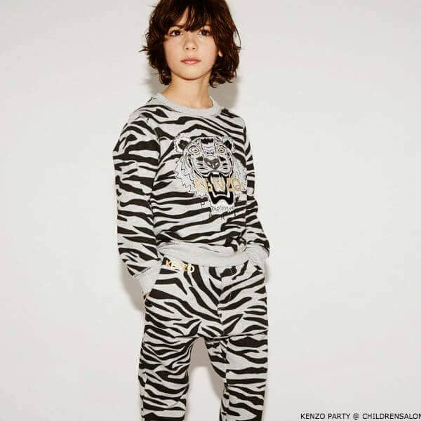 KENZO KIDS EXCLUSIVE EDITION Boys Grey & Black Tiger Sweatshirt & Sweatpants