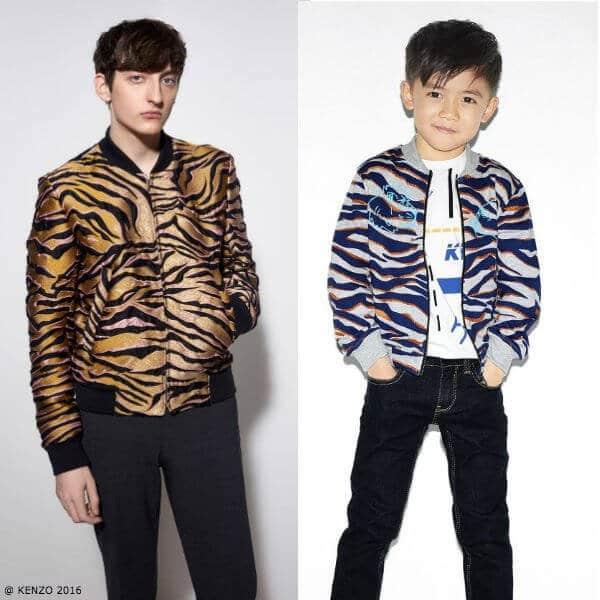 Kenzo Boys Mini Me Tiger Print Bomber Jacket Kenzo Men 2016