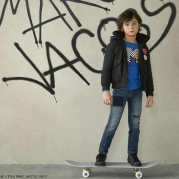 Little Marc Jacobs Blue Mini Me Logo Shirt and Jeans FW17
