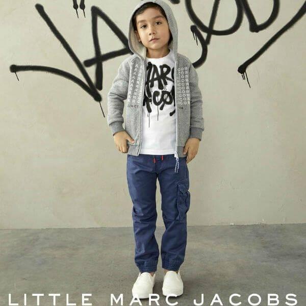 Little Marc Jacobs Grey Logo Sweatshirt and white tshirt fw17