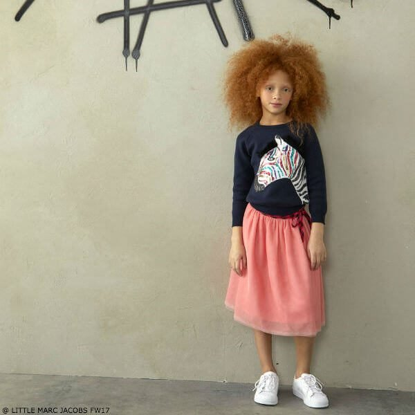 Little Marc Jacobs Zebra Sweater and Pink Tulle Skirt FW17