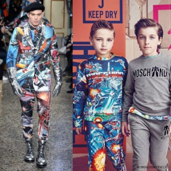 MOSCHINO BOYS MINI ME TRANSFORMERS™ BLUE PRINT OUTFIT
