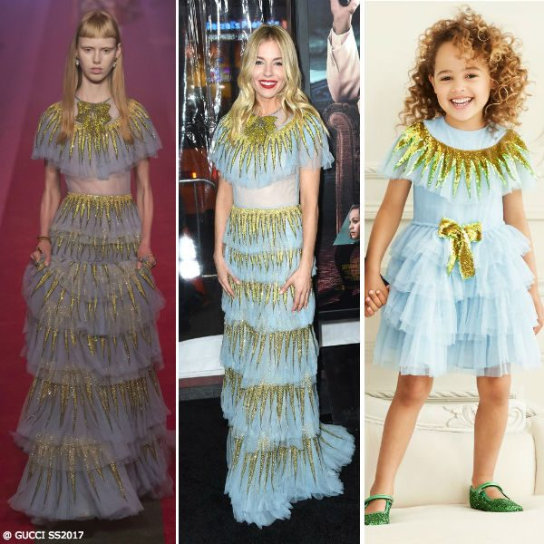 Sienna Miller Gucci SS17 Mini Me Dress Worn at Live By Night Premiere