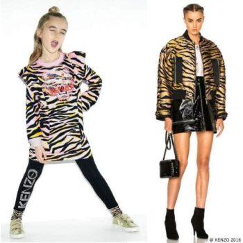kenzo kids mini me girls tiger print dress kenzo women 2016