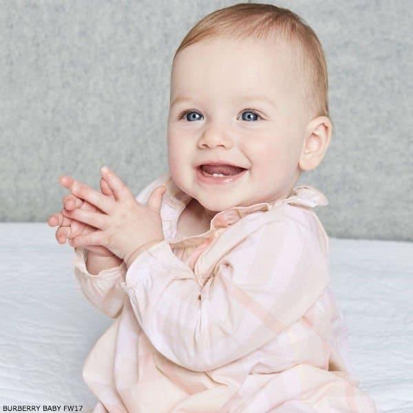 BURBERRY Baby Girls Pink Check Dress