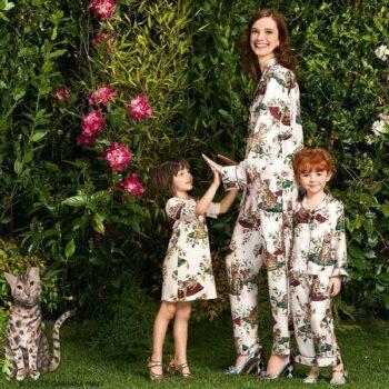DOLCE & GABBANA Girls Mini Me Zambia Rose Print Outfit