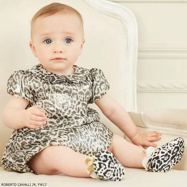 ROBERTO CAVALLI Baby Girls Mini Me Silk Blend Dress