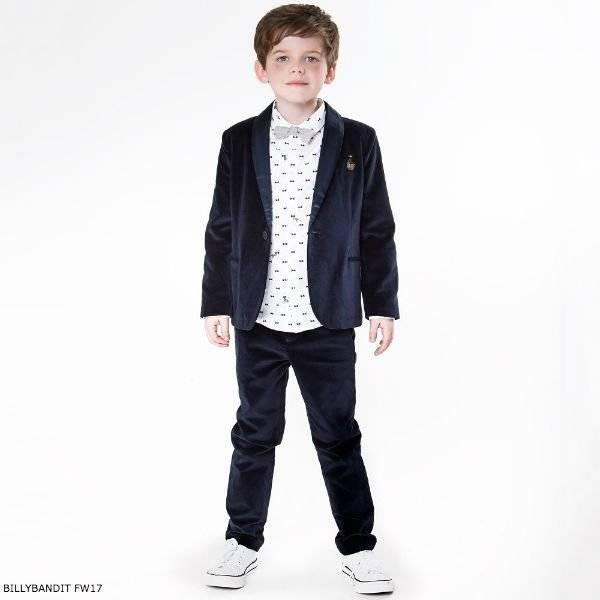 BILLYBANDIT Boys Blue Velvet Suit