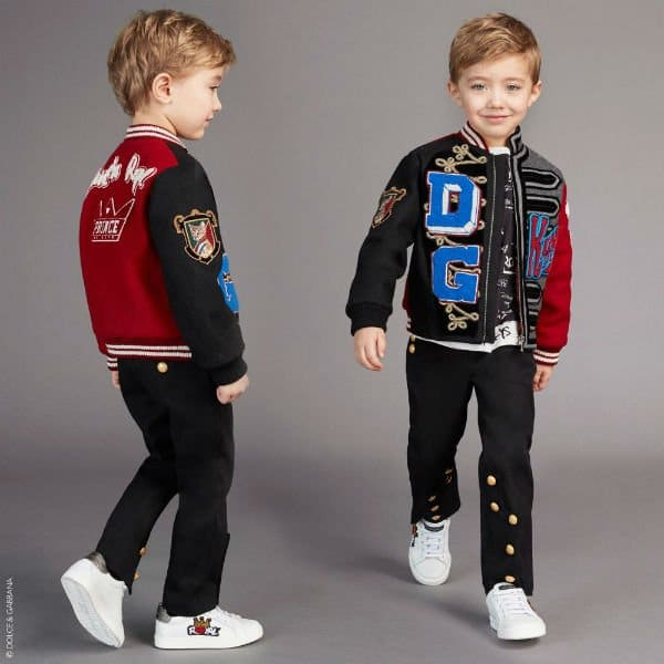 DOLCE & GABBANA Boys Mini Me Patch Bomber Jacket