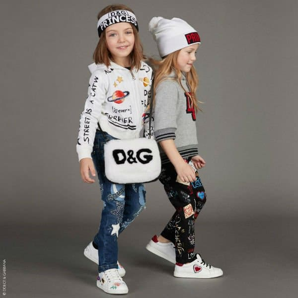 DOLCE & GABBANA Girls Graffiti Planet Top & Space Applique Pants